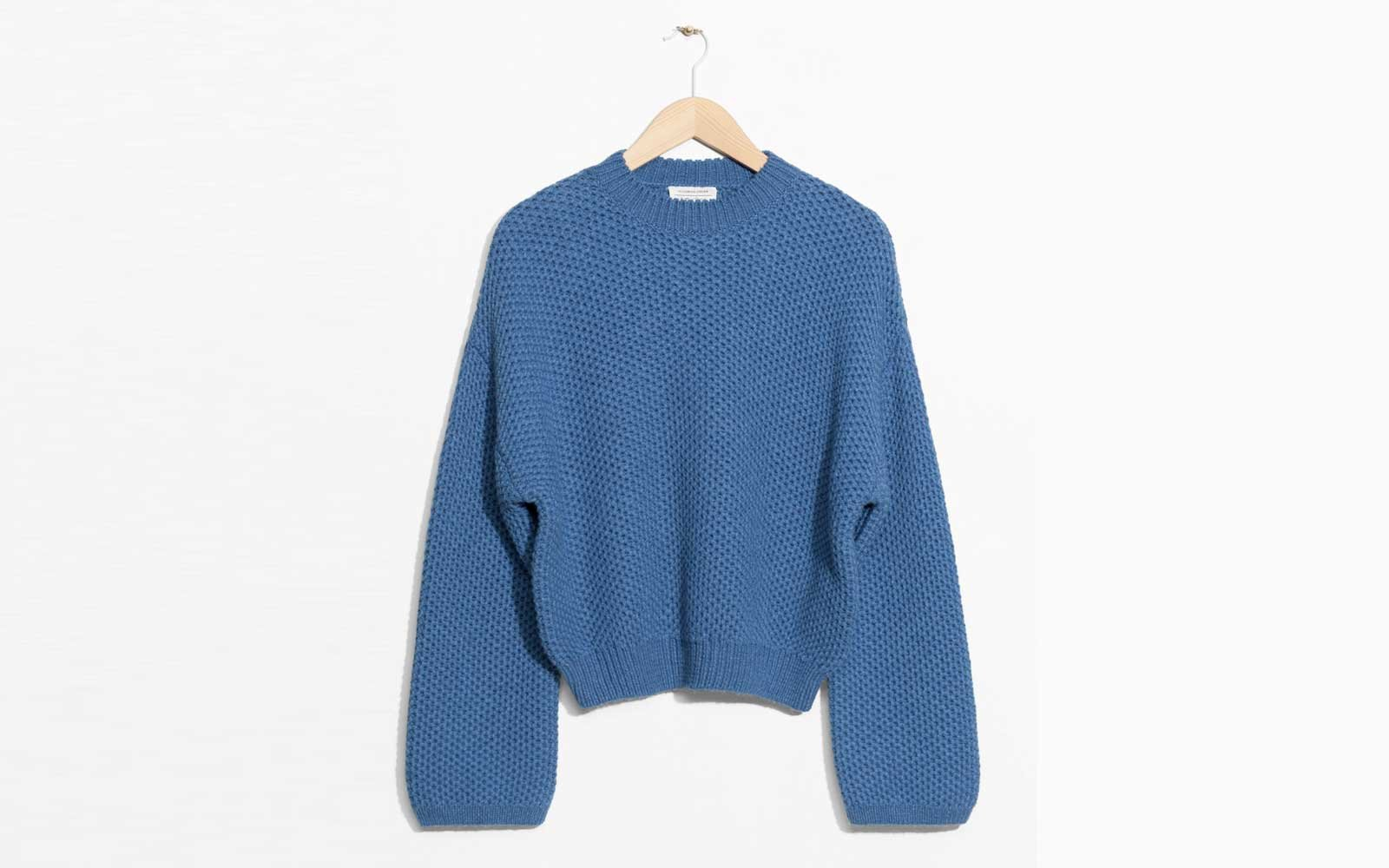 andotherstories-Cropped-Honeycomb-Knit-Sweater-OVRSZECOMF1217