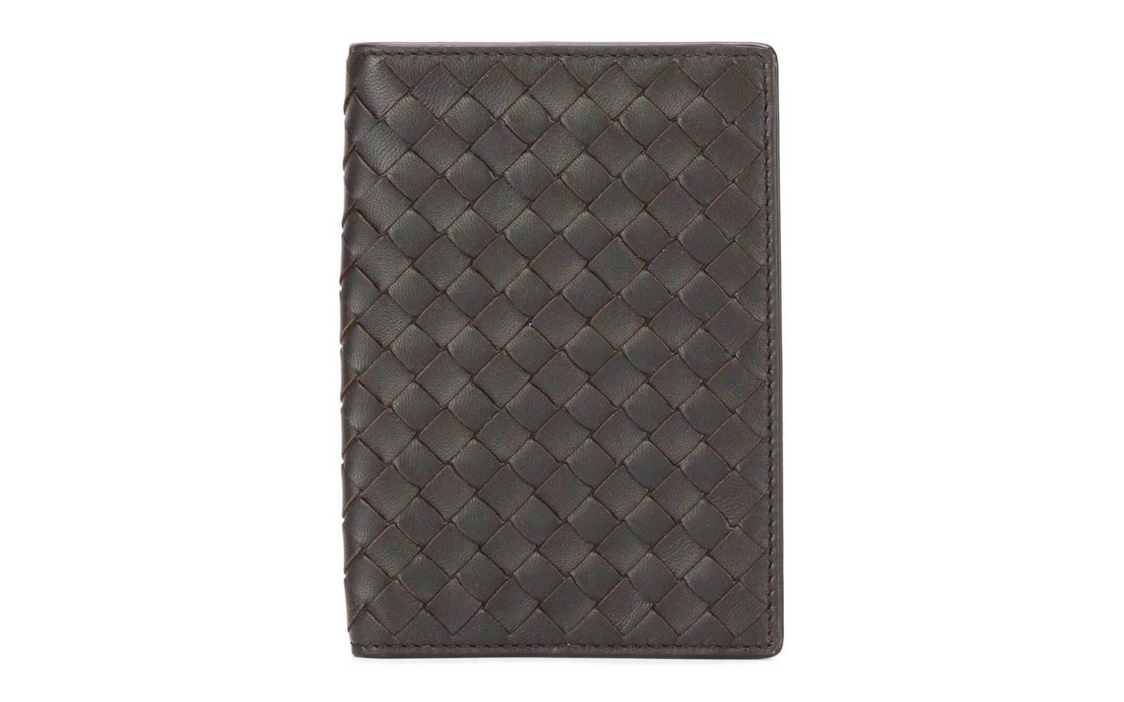 bottega veneta leather passport holder